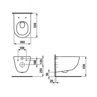 WC rėmo Tece, juodo mygtuko Now ir klozeto Laufen Pro Rimless su plonu lėtaeigiu dangčiu komplektas 9