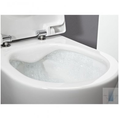 WC rėmo Viega, juodo mygtuko Visign 10 ir klozeto Laufen Pro Rimless su plonu lėtaeigiu dangčiu komplektas 6