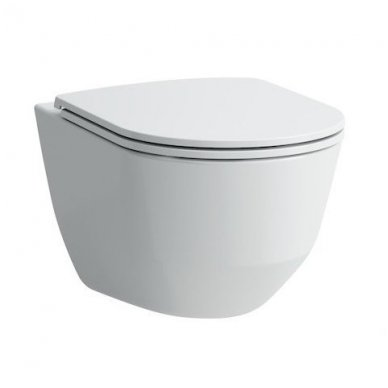 WC rėmo Viega, juodo mygtuko Visign 10 ir klozeto Laufen Pro Rimless su plonu lėtaeigiu dangčiu komplektas 4