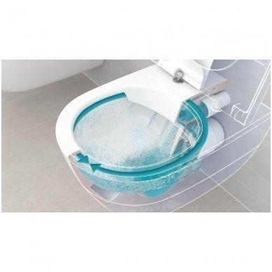 WC rėmo Viega, juodo mygtuko Visign 10 ir klozeto Villeroy $ Boch Subway 2.0 Direct Flush su plonu lėtaeigiu dangčiu komplektas 7