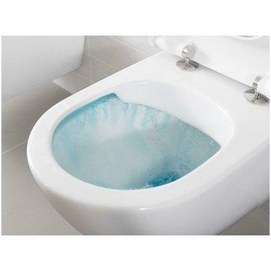 WC rėmo Viega, juodo mygtuko Visign 10 ir klozeto Villeroy $ Boch Subway 2.0 Direct Flush su plonu lėtaeigiu dangčiu komplektas 8