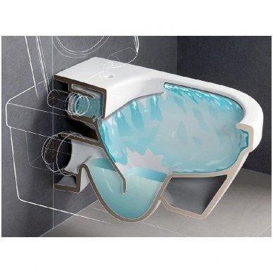 WC rėmo Viega, juodo mygtuko Visign 10 ir klozeto Villeroy $ Boch Subway 2.0 Direct Flush su plonu lėtaeigiu dangčiu komplektas 9
