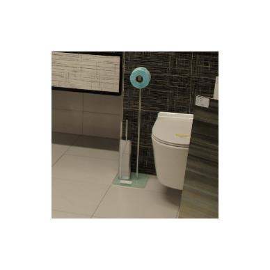 WC Stovas su unitazo šepečiu ir tualetinio popieriaus laikikliu 3