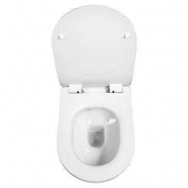 Komplektas WERIT potinkinis rėmas su mygtuku + BRILLA Rimless pakabinamas wc su lėtaeigiu dangčiu 8
